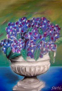 """pot with hydrangea"""